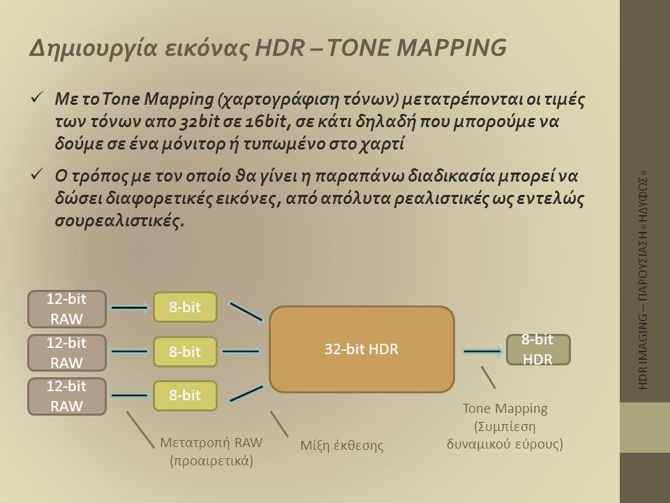 Δημιουργία εικόνας HDR – TONE MAPPING