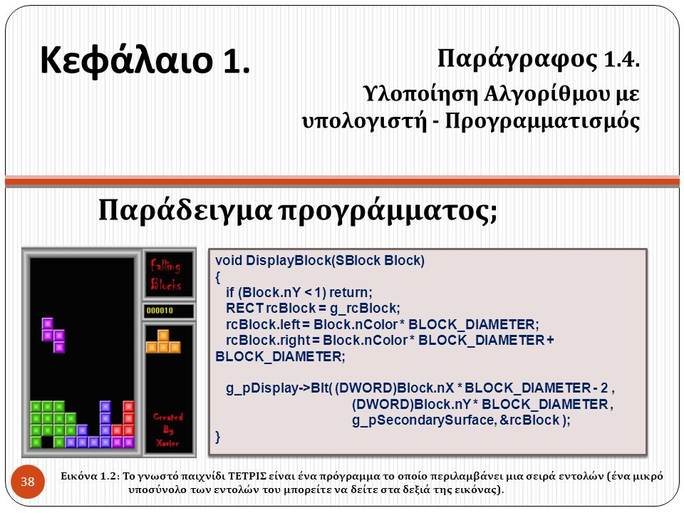 Κεφάλαιο 1. Παράδειγμα προγράμματος; Παράγραφος 1.4.