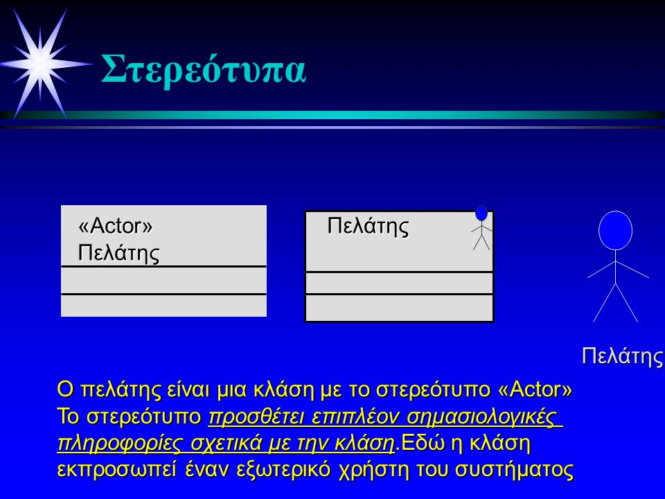 Στερεότυπα «Actor» Πελάτης Πελάτης Πελάτης