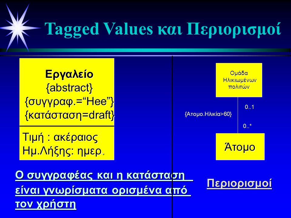 Tagged Values και Περιορισμοί