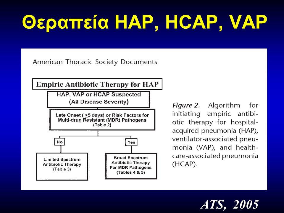 Θεραπεία HAP, HCAP, VAP ATS, 2005