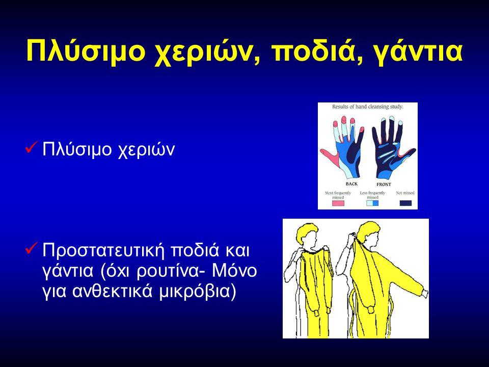 Πλύσιμο χεριών, ποδιά, γάντια