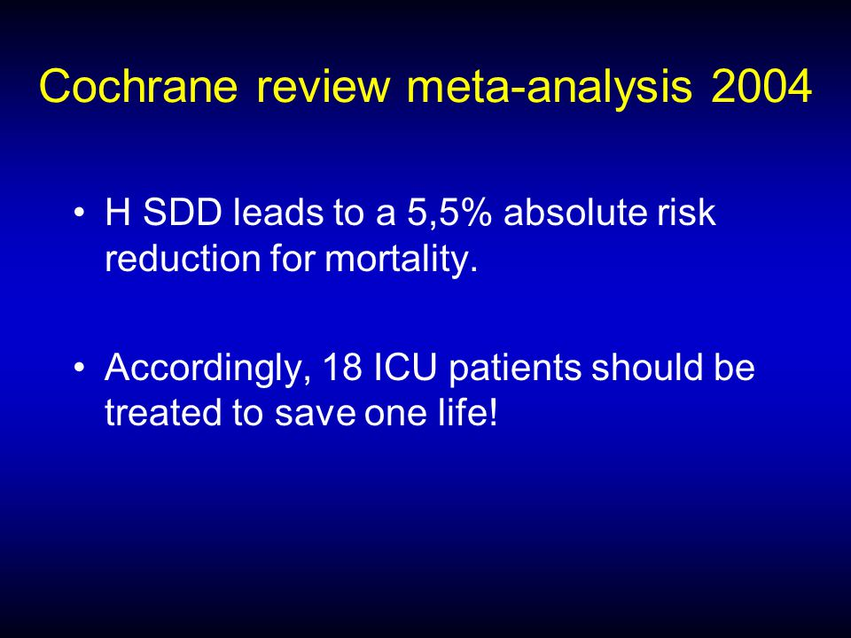 Cochrane review meta-analysis 2004