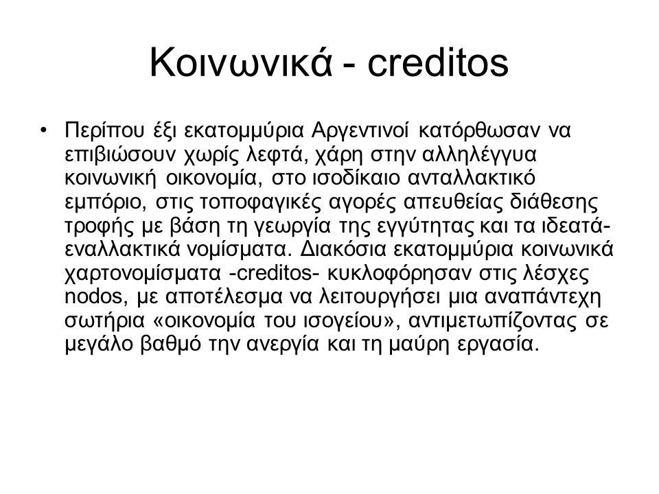 Κοινωνικά - creditos
