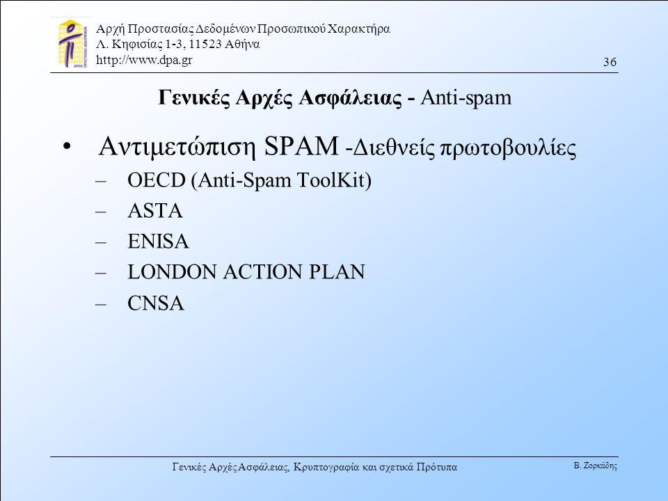 Γενικές Αρχές Ασφάλειας - Anti-spam