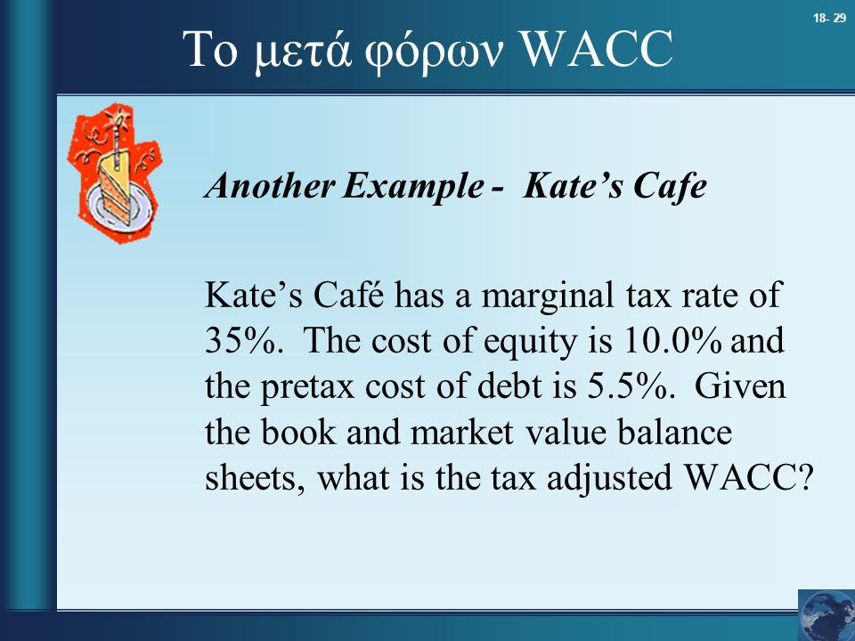Το μετά φόρων WACC Another Example - Kate's Cafe