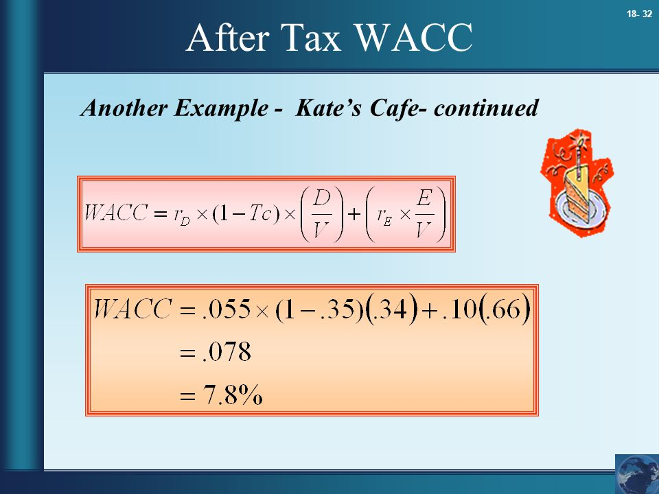 After Tax WACC Another Example - Kate's Cafe- continued