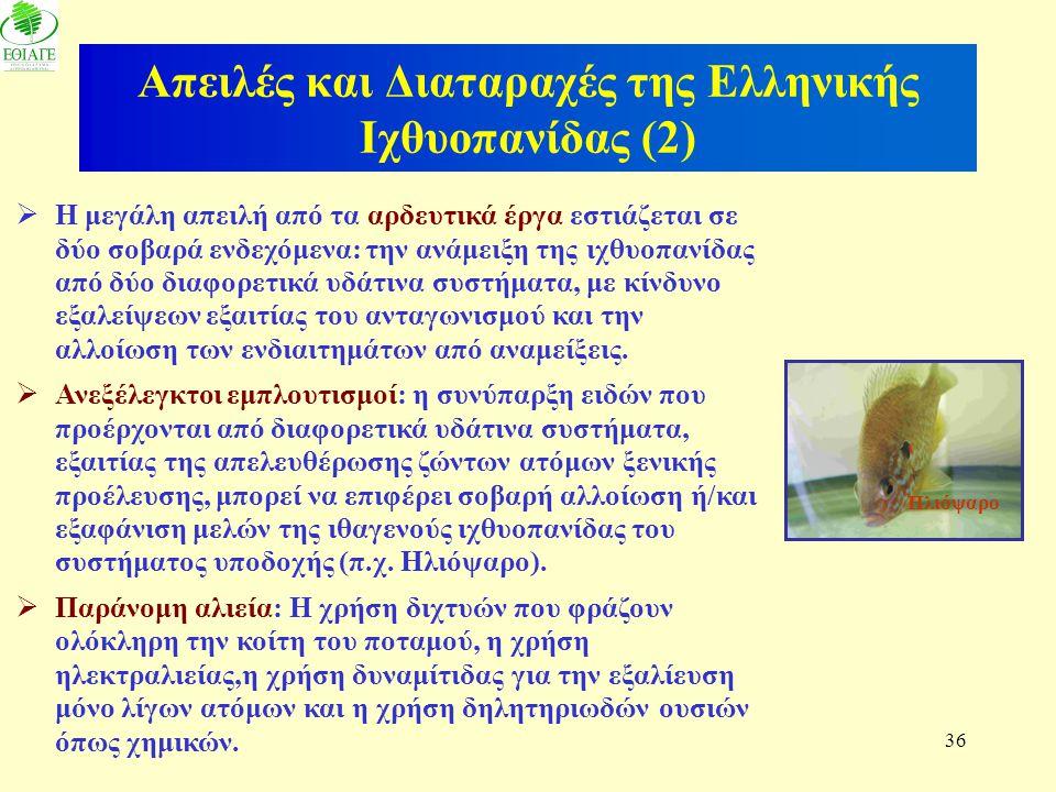 Απειλές και Διαταραχές της Ελληνικής Ιχθυοπανίδας (2)