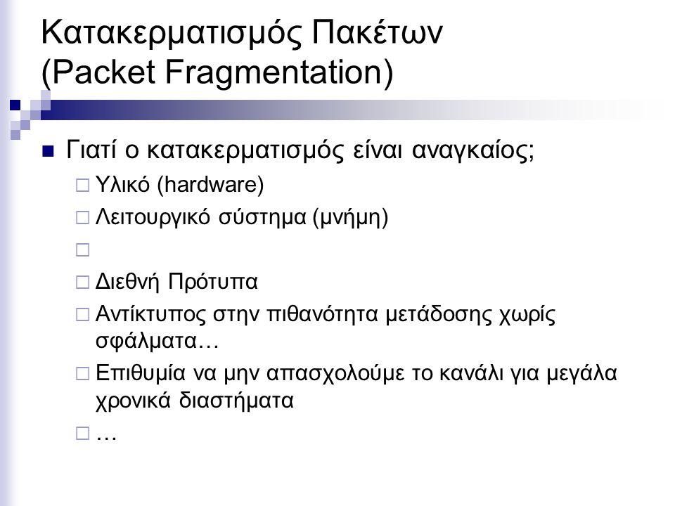 Κατακερματισμός Πακέτων (Packet Fragmentation)