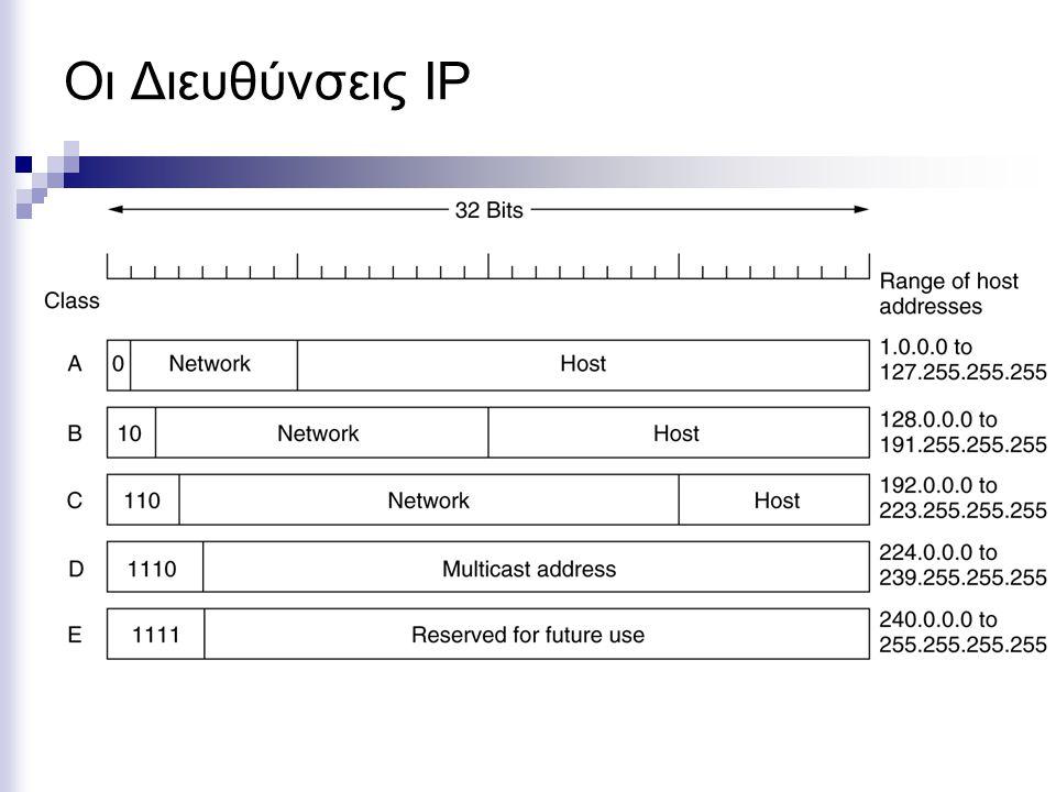 Οι Διευθύνσεις IP