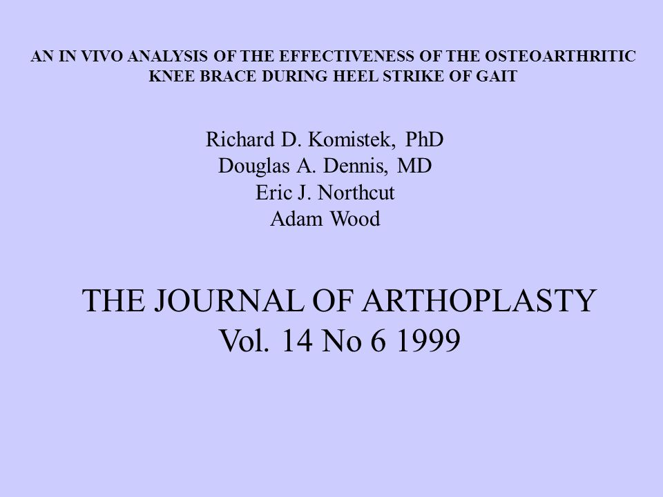 THE JOURNAL OF ARTHOPLASTY Vol. 14 No 6 1999