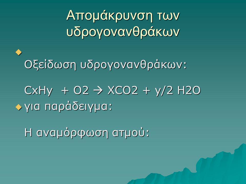 Απομάκρυνση των υδρογονανθράκων
