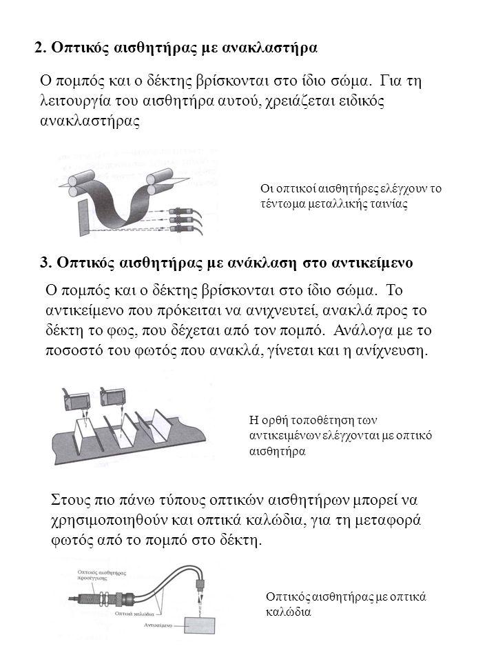 2. Οπτικός αισθητήρας με ανακλαστήρα