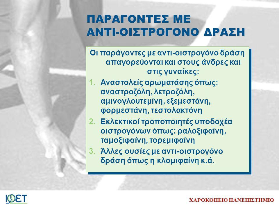ΠΑΡΑΓΟΝΤΕΣ ΜΕ ΑΝΤΙ-ΟΙΣΤΡΟΓΟΝΟ ΔΡΑΣΗ