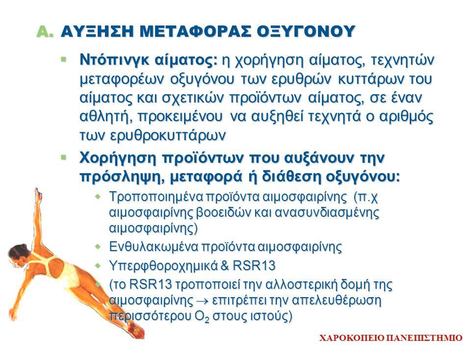 ΑΥΞΗΣΗ ΜΕΤΑΦΟΡΑΣ ΟΞΥΓΟΝΟΥ