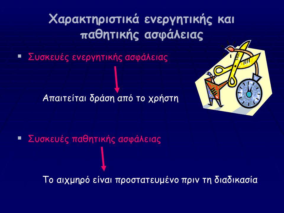 Χαρακτηριστικά ενεργητικής και παθητικής ασφάλειας