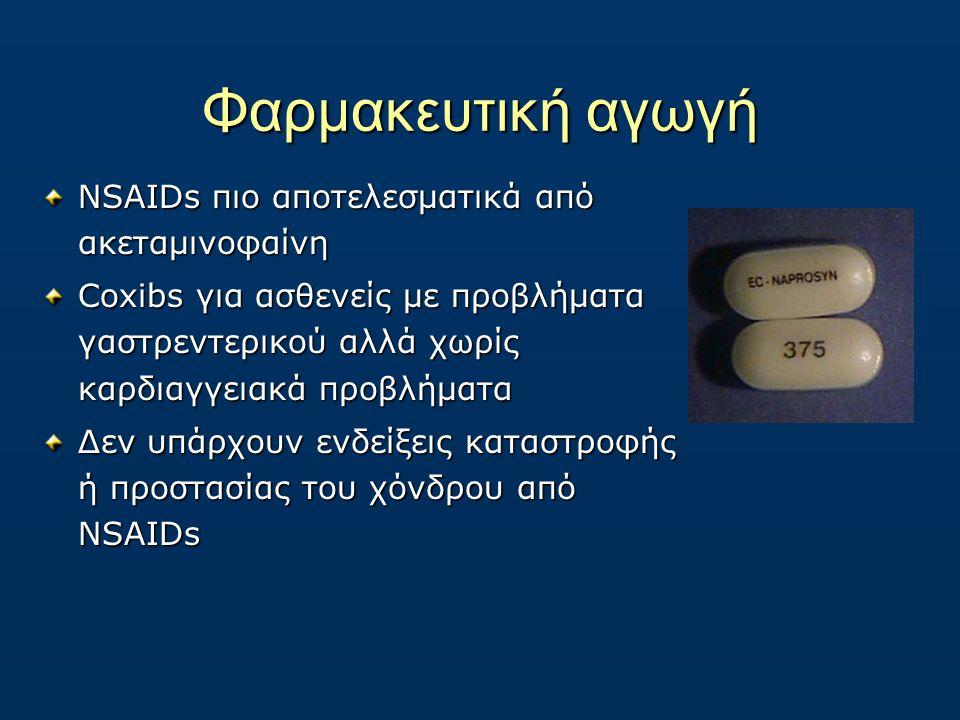 Φαρμακευτική αγωγή NSAIDs πιο αποτελεσματικά από ακεταμινοφαίνη