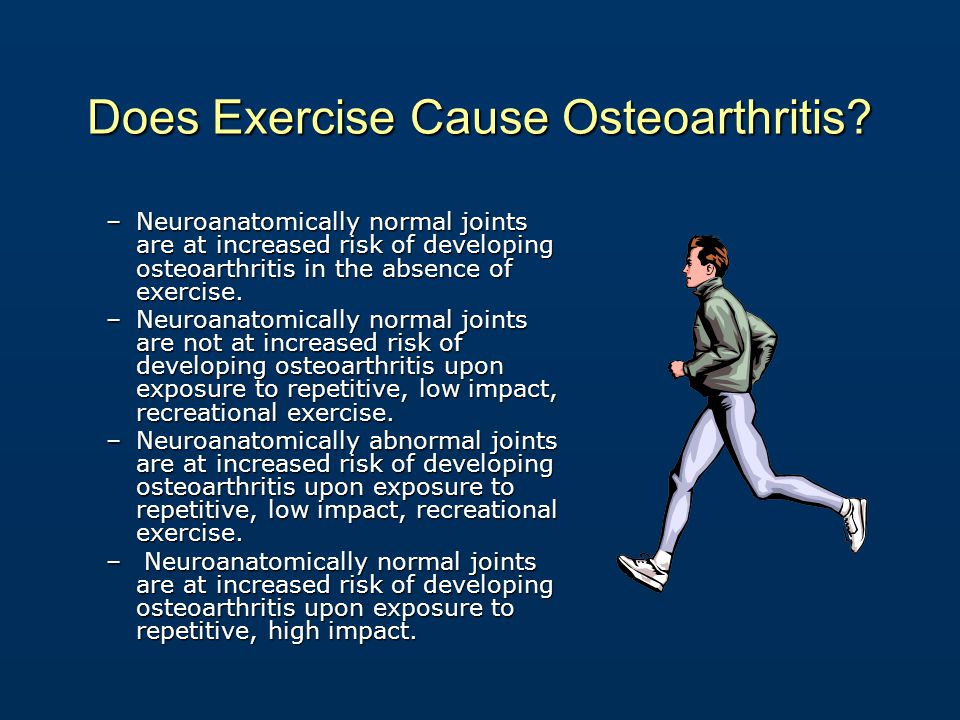 Does Exercise Cause Osteoarthritis