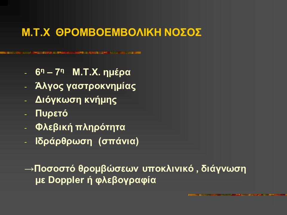 Μ.Τ.Χ ΘΡΟΜΒΟΕΜΒΟΛΙΚΗ ΝΟΣΟΣ