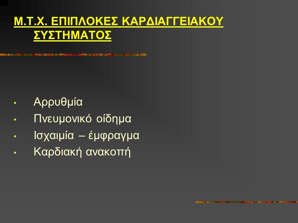 Μ.Τ.Χ. ΕΠΙΠΛΟΚΕΣ ΚΑΡΔΙΑΓΓΕΙΑΚΟΥ ΣΥΣΤΗΜΑΤΟΣ