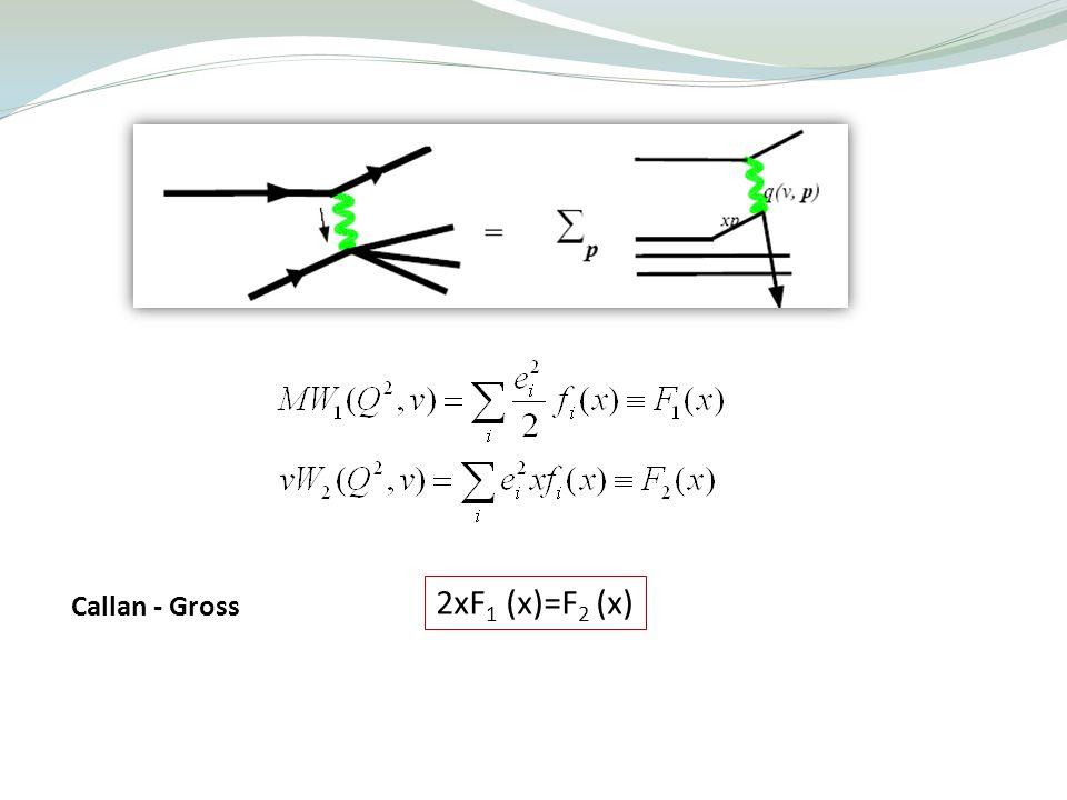 2xF1 (x)=F2 (x) Callan - Gross