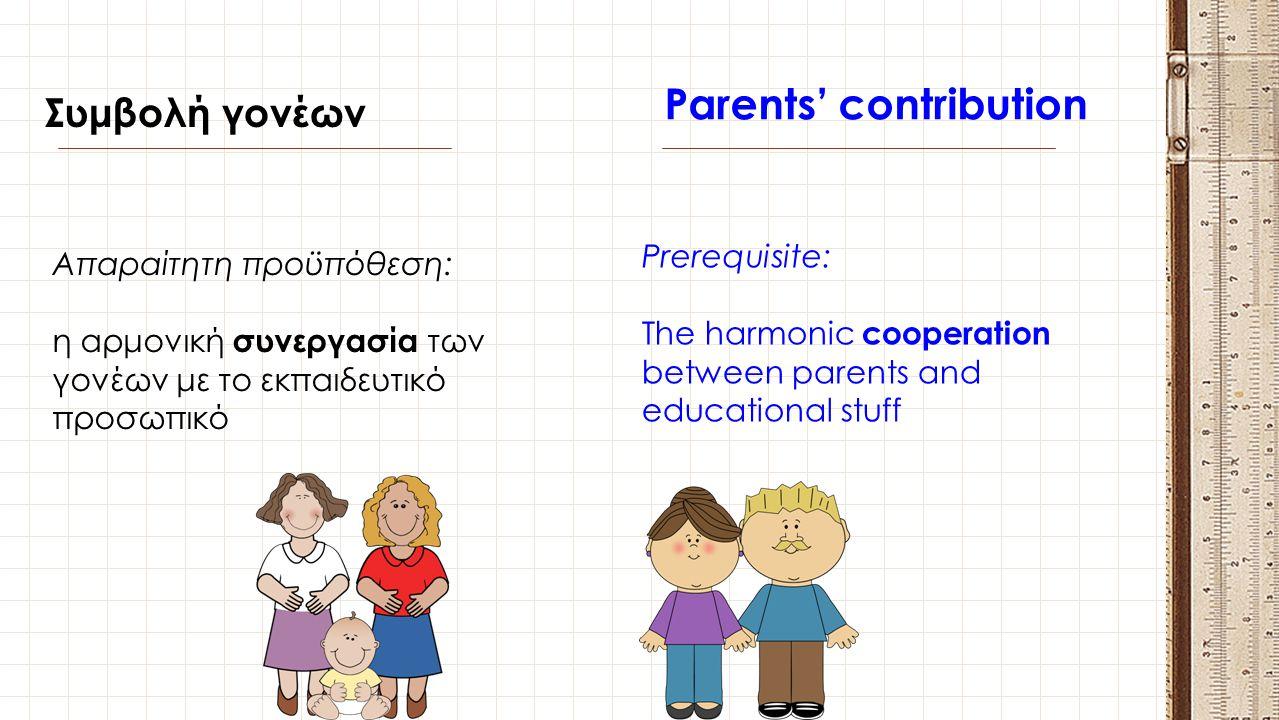 Parents' contribution