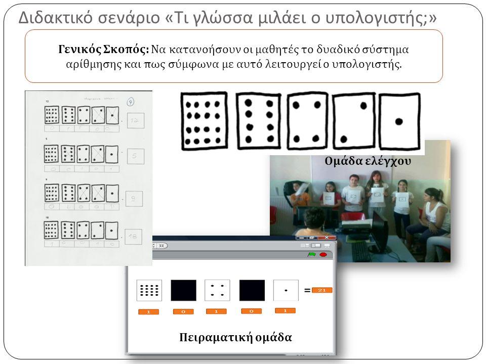 Διδακτικό σενάριο «Τι γλώσσα μιλάει ο υπολογιστής;»