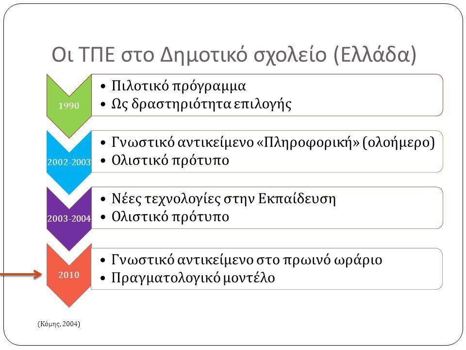 Οι ΤΠΕ στο Δημοτικό σχολείο (Ελλάδα)