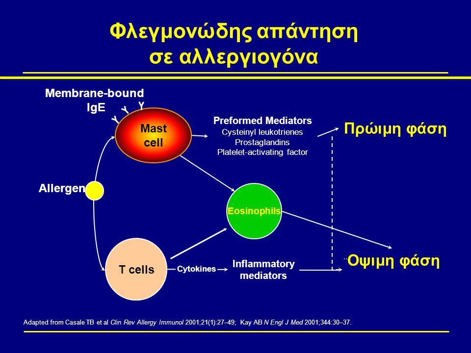 Φλεγμονώδης απάντηση σε αλλεργιογόνα