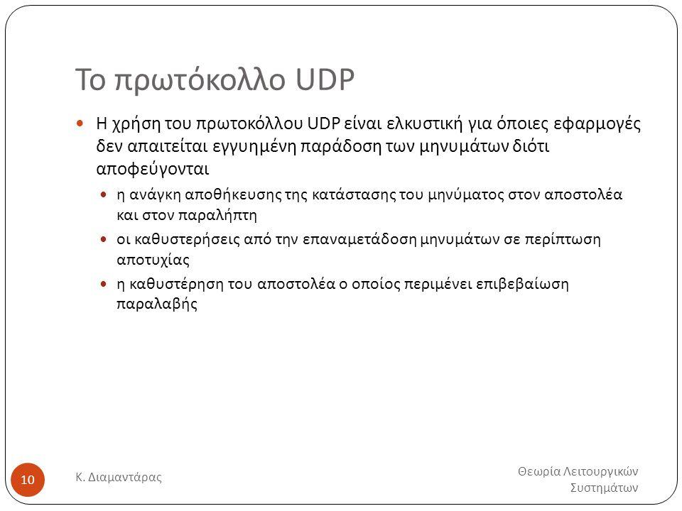 Το πρωτόκολλο UDP