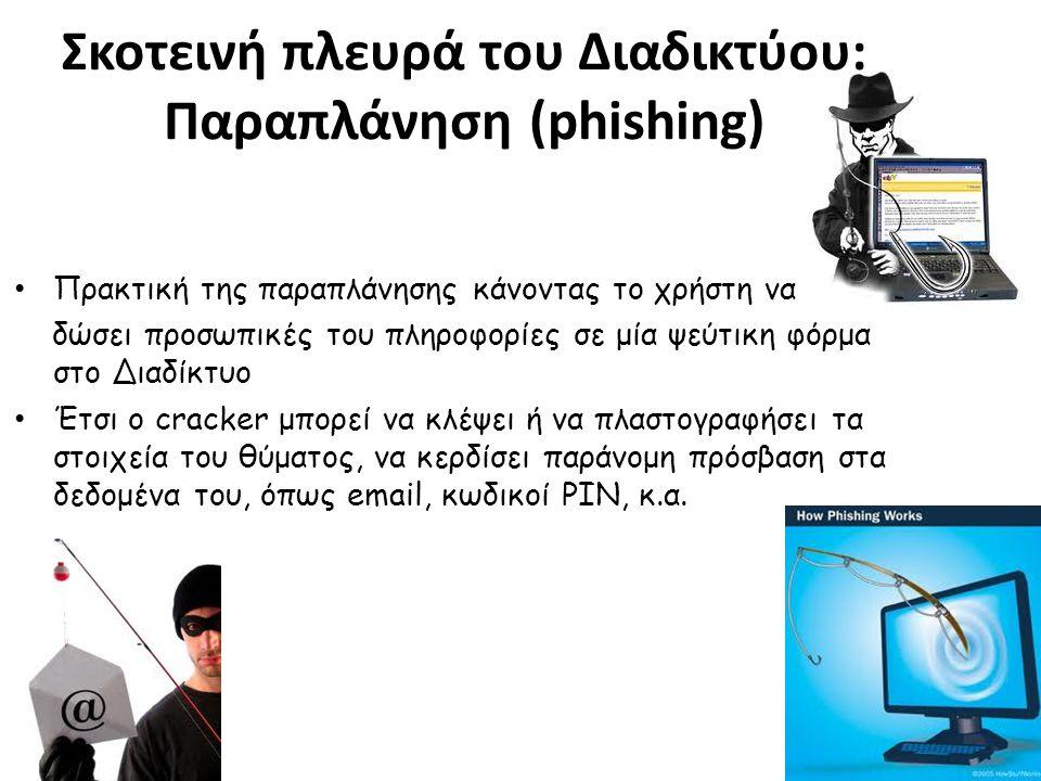 Σκοτεινή πλευρά του Διαδικτύου: Παραπλάνηση (phishing)