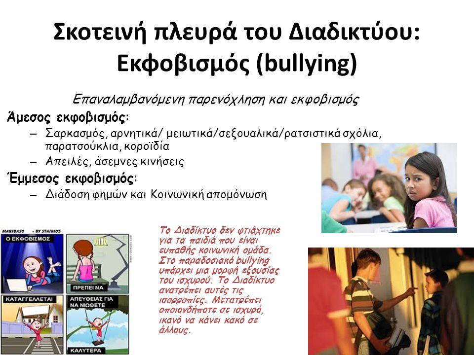 Σκοτεινή πλευρά του Διαδικτύου: Εκφοβισμός (bullying)