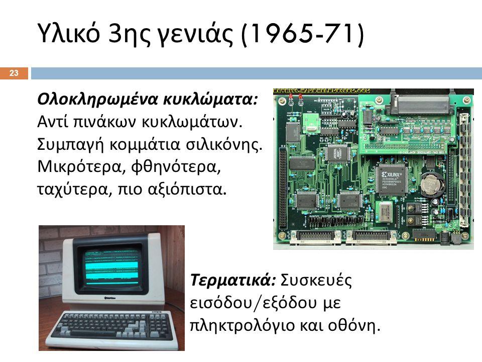 Υλικό 4ης γενιάς (1971-σήμερα)