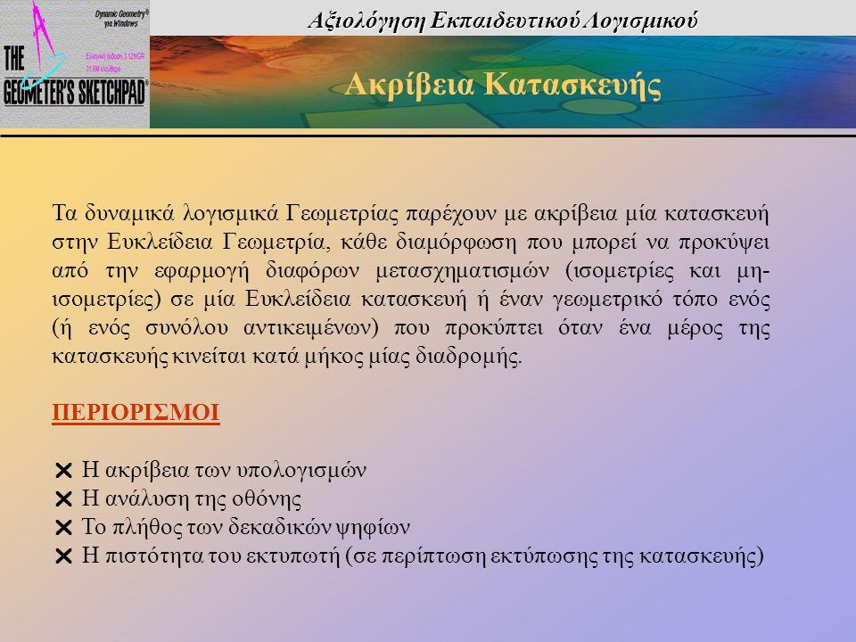 Αξιολόγηση Εκπαιδευτικού Λογισμικού