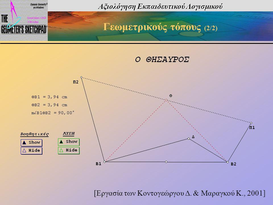 Αξιολόγηση Εκπαιδευτικού Λογισμικού Γεωμετρικούς τόπους (2/2)
