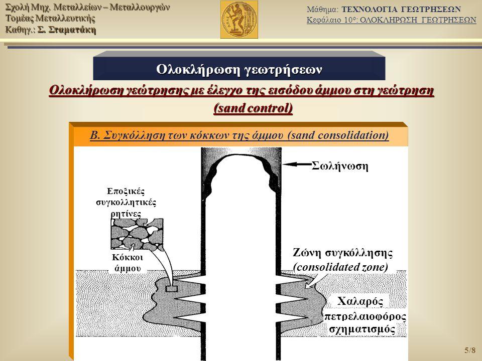 Ολοκλήρωση γεωτρήσεων