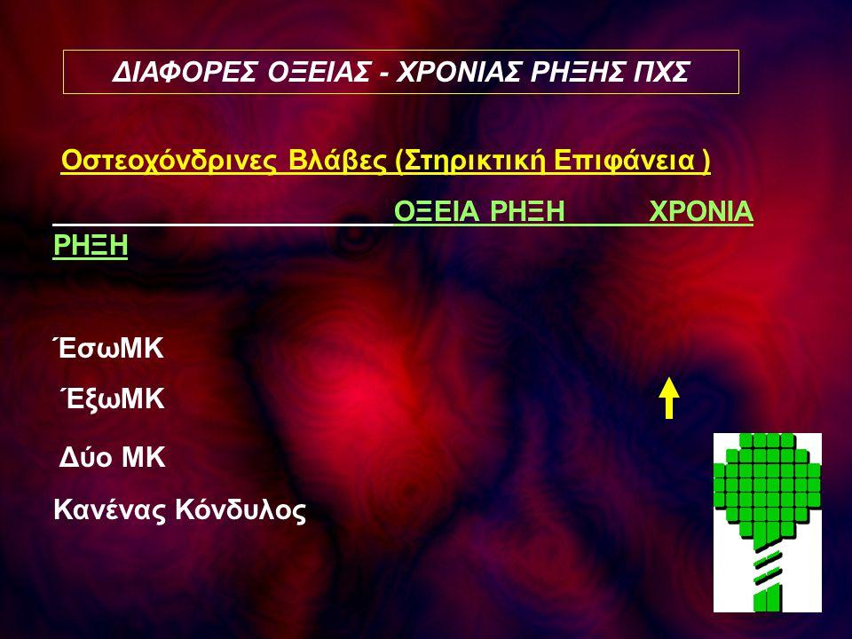 ΔΙΑΦΟΡΕΣ ΟΞΕΙΑΣ - ΧΡΟΝΙΑΣ ΡΗΞΗΣ ΠΧΣ