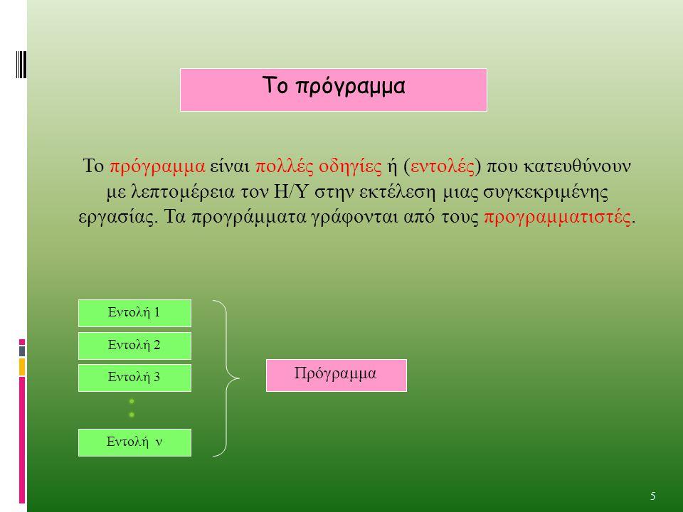 Το πρόγραμμα