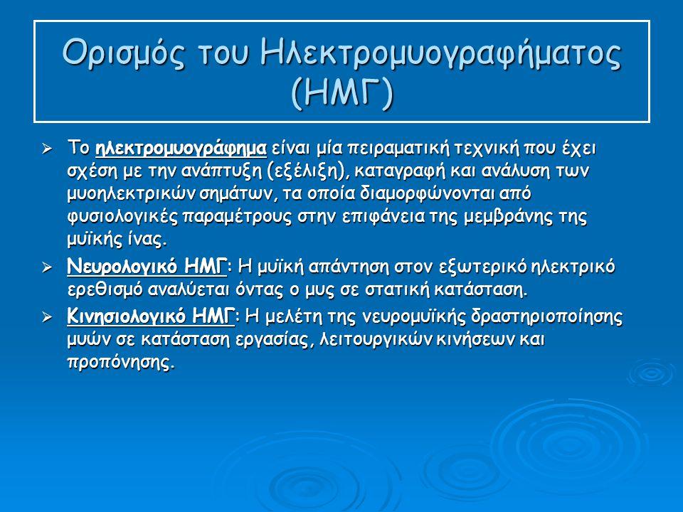 Ορισμός του Ηλεκτρομυογραφήματος (ΗΜΓ)