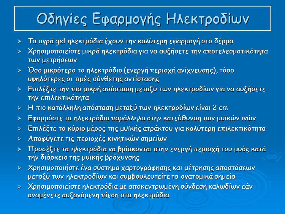 Οδηγίες Εφαρμογής Ηλεκτροδίων