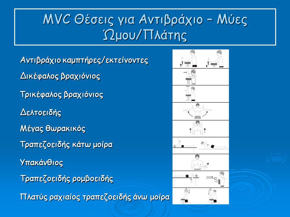 MVC Θέσεις για Αντιβράχιο – Μύες Ώμου/Πλάτης