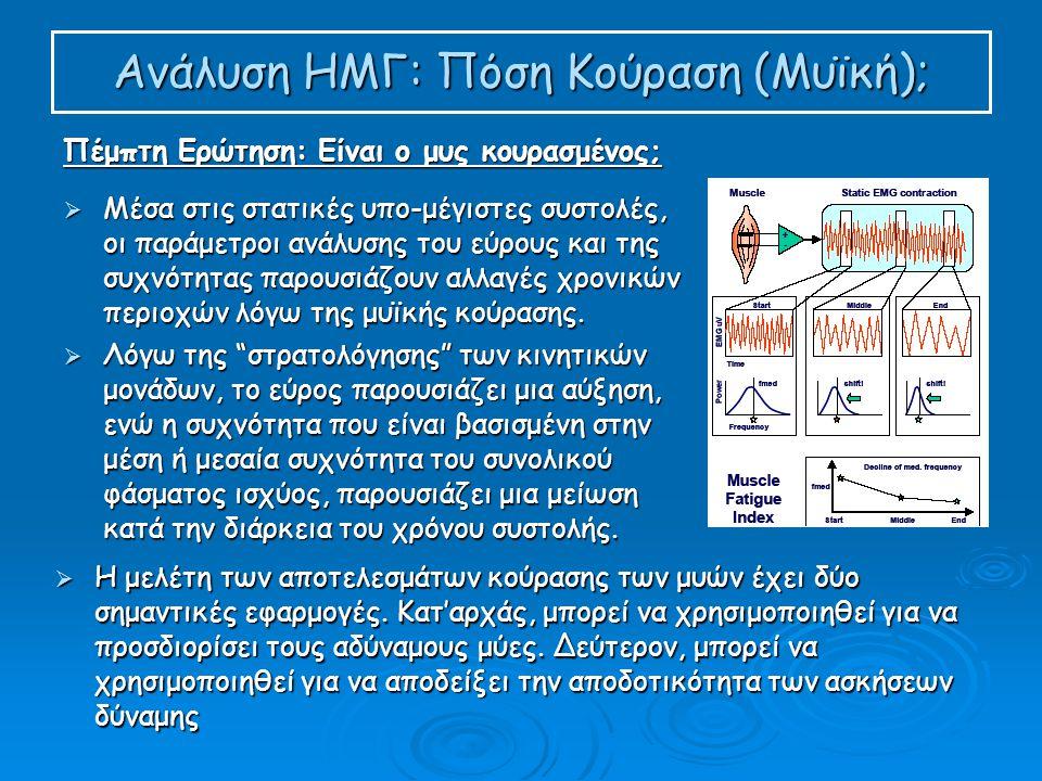 Ανάλυση ΗΜΓ: Πόση Κούραση (Μυϊκή);