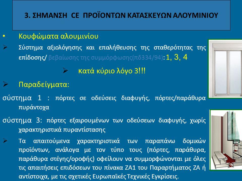 3. ΣΗΜΑΝΣΗ CE ΠΡΟΪΟΝΤΩΝ ΚΑΤΑΣΚΕΥΩΝ ΑΛΟΥΜΙΝΙΟΥ