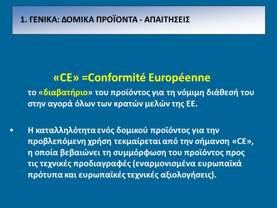 «CE» =Conformité Européenne