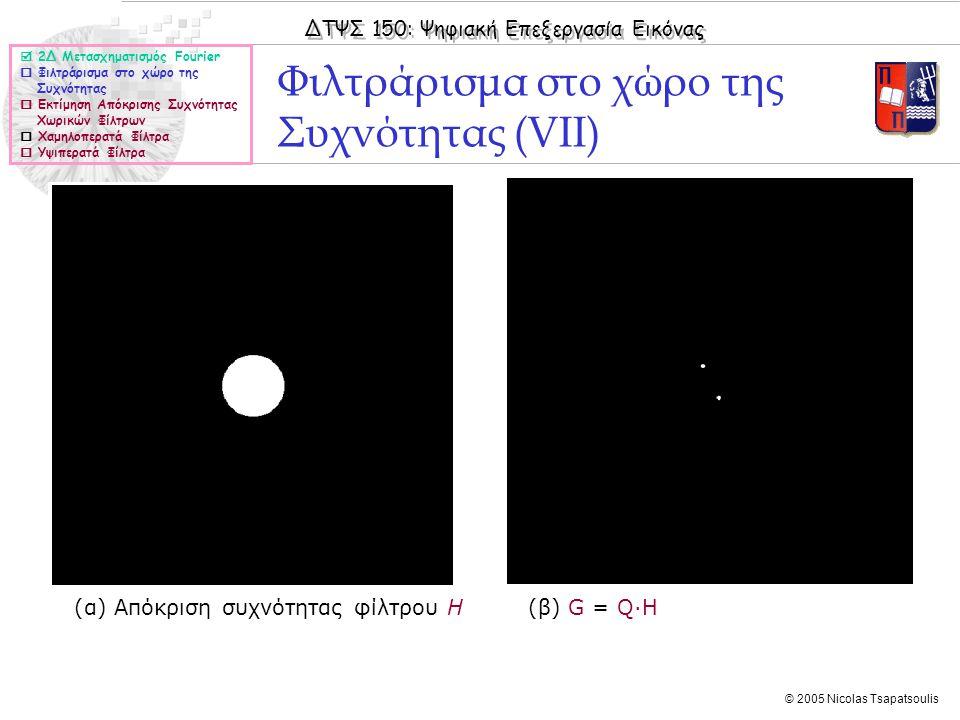 Φιλτράρισμα στο χώρο της Συχνότητας (VII)