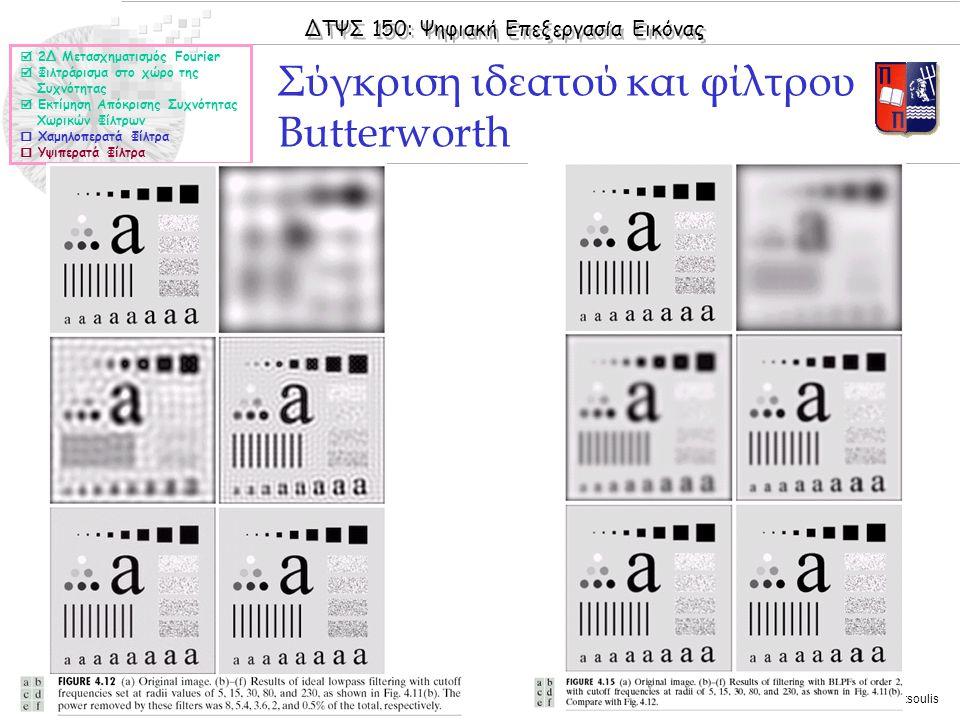 Σύγκριση ιδεατού και φίλτρου Butterworth