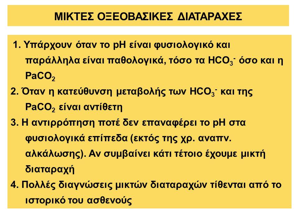 ΜΙΚΤΕΣ ΟΞΕΟΒΑΣΙΚΕΣ ΔΙΑΤΑΡΑΧΕΣ