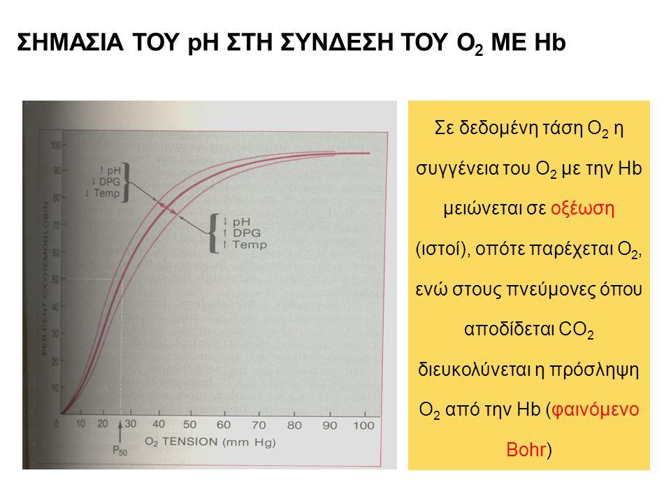 ΣΗΜΑΣΙΑ ΤΟΥ pH ΣΤΗ ΣΥΝΔΕΣΗ ΤΟΥ Ο2 ΜΕ Hb