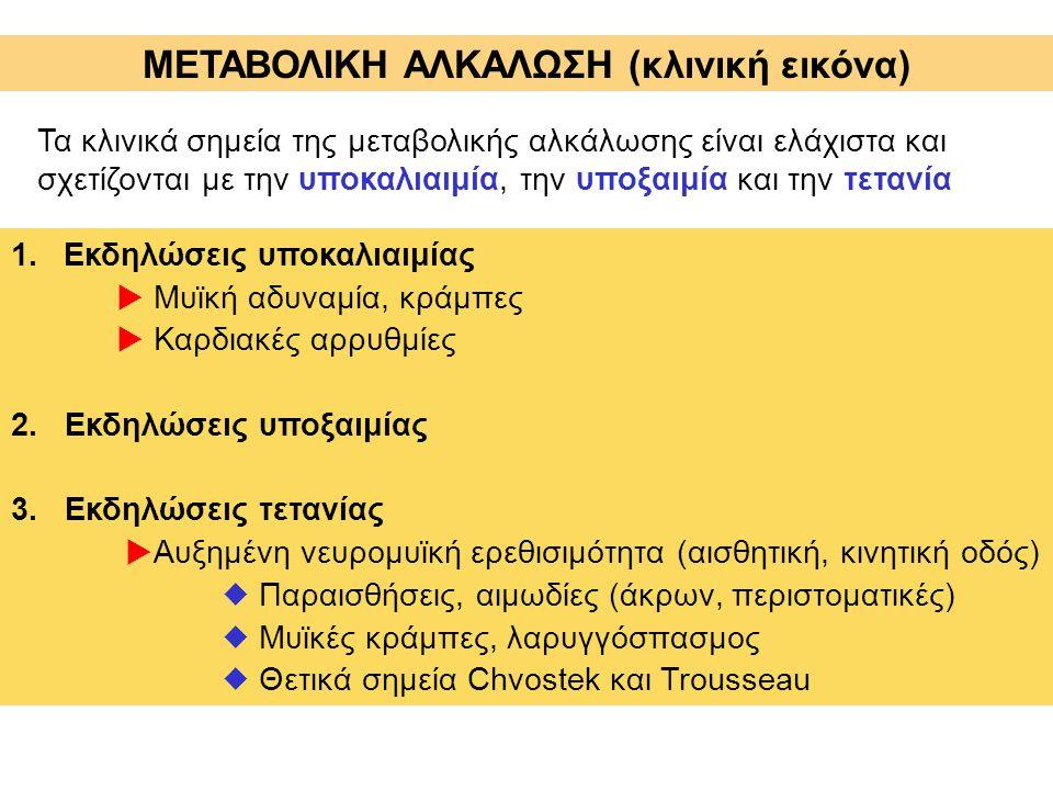 ΜΕΤΑΒΟΛΙΚΗ ΑΛΚΑΛΩΣΗ (κλινική εικόνα)
