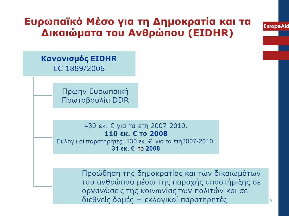 Ευρωπαϊκό Μέσο για τη Δημοκρατία και τα Δικαιώματα του Ανθρώπου (EIDHR)